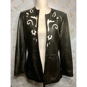 Pamela McCoy Collections Leather Jacket Size Small